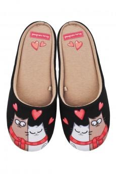 Тапочки домашние женские «Влюбленные коты»