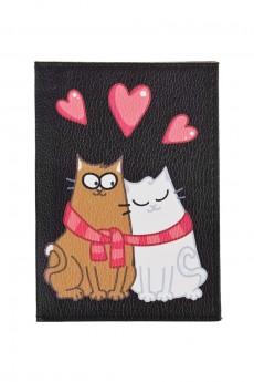 Обложка для паспорта «Влюбленные коты»