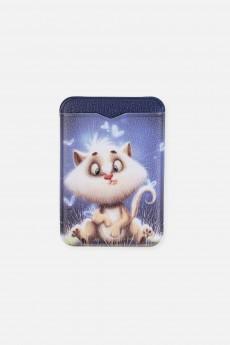 Держатель для карточек «Кот в бабочках»