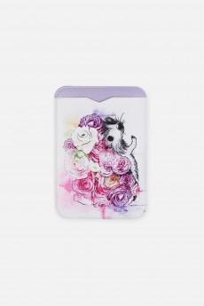 Держатель для карточек «Ежик в цветах»