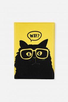 Обложка для автодокументов «Озадаченный кот»