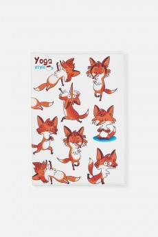 Обложка для паспорта «Йога-лисы»