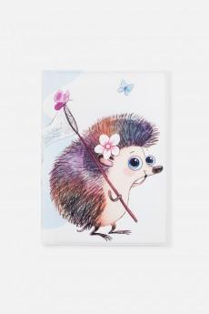 Обложка для паспорта «Ежик с сачком»