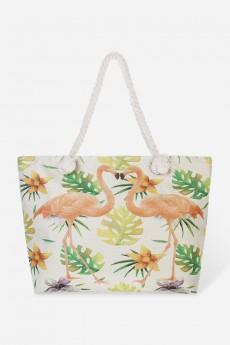 Сумка пляжная «Фламингос»