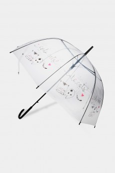 Зонт-трость полуавтомат «Лаки кэтс»