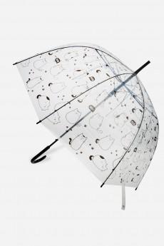 Зонт-трость полуавтомат «Мэни кэтс»