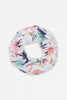 Повязка на голову «Пальмы и фламинго»