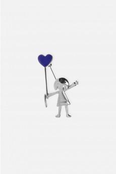 Брошь «Девочка с сердцем»