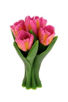 Свеча «Букет тюльпанов»