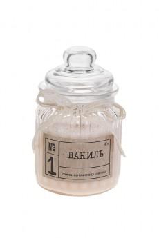 Подсвечник со свечой ароматизированной «Банка»