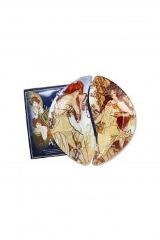Набор тарелок «Лето/Осень (А. Муха)»