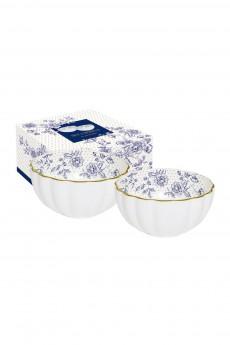 Набор салатников «Голубые пионы»