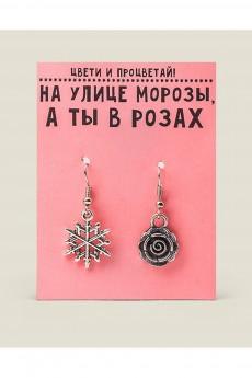 Серьги «Красота требует розы на морозе»