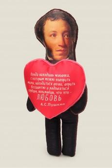 Игрушка «Пушкин с сердечком»