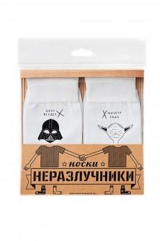 Носки неразлучники «Дарт Вейдер Магистр Йода р.25»