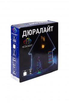 Дюралайт 24 LED, белый «Дюралайт LED, свечение с динамикой (3W), 24 LED/м, белый, 6м»
