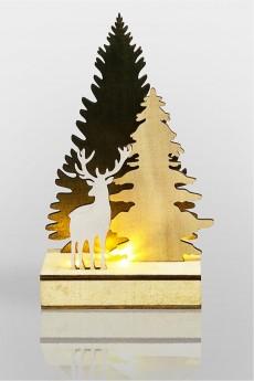Украшение для интерьера с подсветкой «Елочка с оленем»