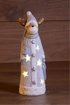 Керамическая фигурка «Оленёнок с шарфом»