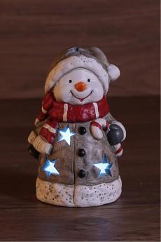 Керамическая фигурка «Снеговичок в шарфе»