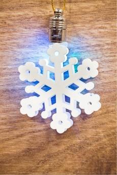 Фигурка подвесная светящаяся «Снежинка»