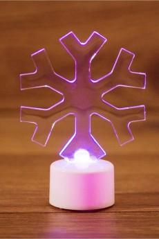 Фигура светодиодная на подставке «Снежинка»