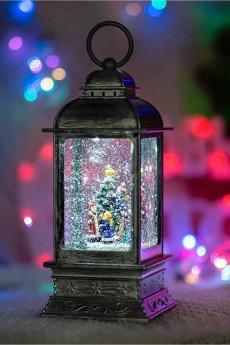 Декоративный фонарь с эффектом снегопада «Рождество»