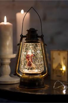 Декоративный фонарь с эффектом снегопада «Санта Клаус»