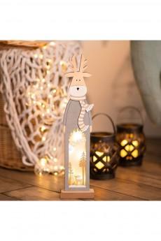 Деревянная фигурка с подсветкой «Рождественский олень»