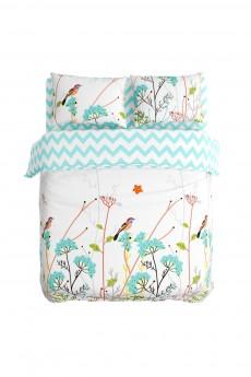 Постельное белье 1,5-спальное «Травы и птицы»