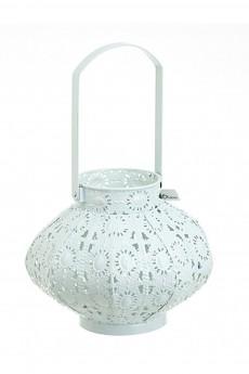 Подсвечник декоративный со стеклянной колбой для свечи «Белоснежный»
