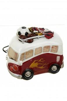 Лампа настольная «Красный мини автобус»