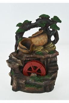 Фонтан декоративный с подсветкой «Водяная мельница»