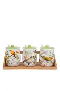 Набор банок для сыпучих продуктов «Птицы»