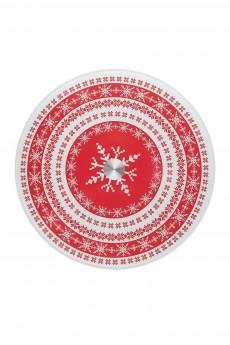 Блюдо вращающееся новогоднее для сервировки стола «Зимний узор»