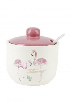 Сахарница + ложка «Фламинго»