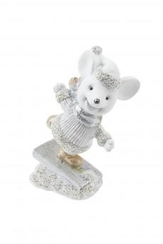 Фигурка декоративная «Мышонок на льду»