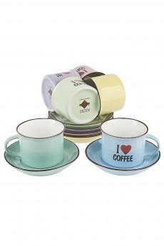 Кофейный сервиз 12 предметов «I love coffee»