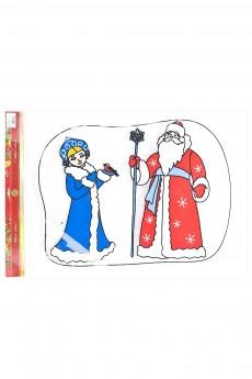 Наклейка - стикер бесклеевой новогодний «Новогодняя сказка»