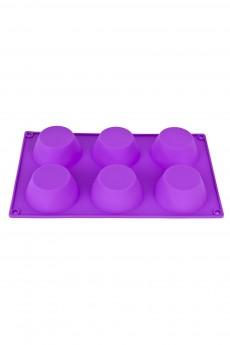 Форма силиконовая для выпечки на 6 ячеек «Бисквит»