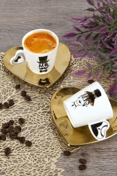 Кофейный набор 4 предмета «Золотое сердце»