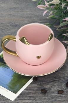 Чашка с блюдцем «Кошечка»