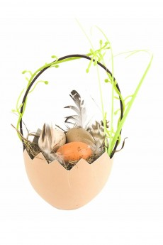Композиция декоративная «Яйцо в лукошке»