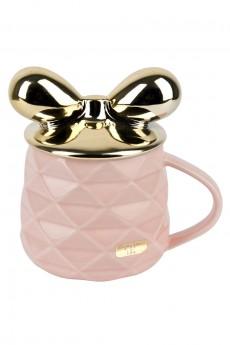 Чашка с крышкой «Золотой бант»