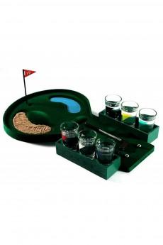 Пьяный гольф со стопками «Лунка»