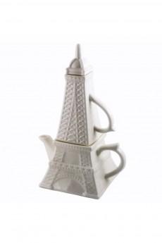 Чайник с кружкой фарфор «Эйфелева башня»