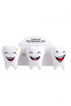 Держатель для зубной щетки семейный «Зубки»
