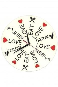 Часы настенные «Ешь Спи Люби»