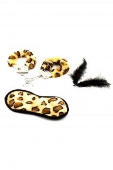 Набор для взрослых «Наручники и повязка леопард»
