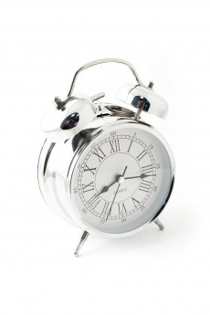 Часы будильник «Серебро»