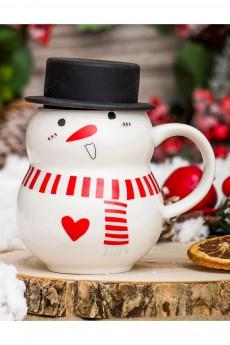 Кружка «Снеговик в шляпе»